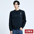 EDWIN E-FUNCTION 3D立體厚長袖T恤-男-黑色