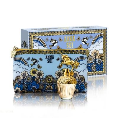 ANNA SUI獨角獸童話禮盒(淡香水30ml+愛情鳥化妝包)
