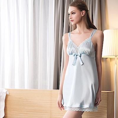 華歌爾睡衣-性感 M-L 沙典裙裝(藍)