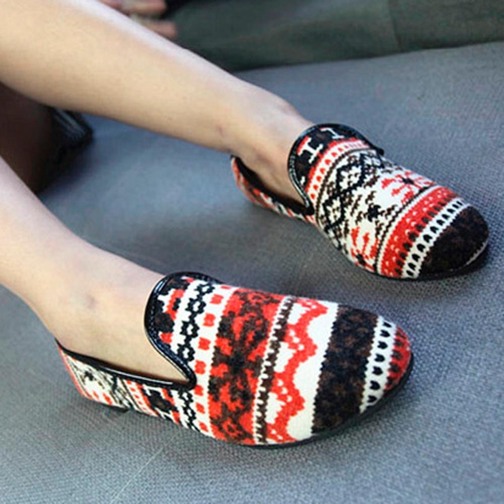 韓國KW美鞋館 (現貨+預購) 異國民族風味懶人鞋-紅