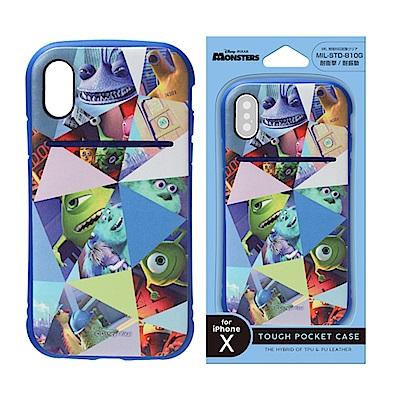 iPhone X 手機殼 迪士尼 軍規防撞/防摔 插卡 軟殼 5.8吋-怪獸工廠