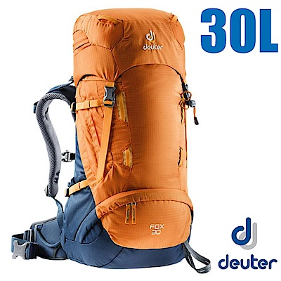 德國 Deuter Fox 30+4L 專業輕量拔熱透氣背包_芒果黃/暗藍
