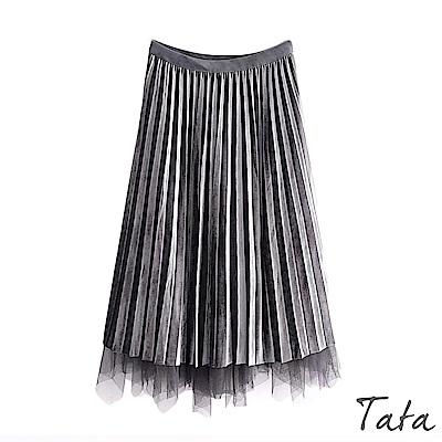 網紗兩面穿百褶裙 共二色 TATA