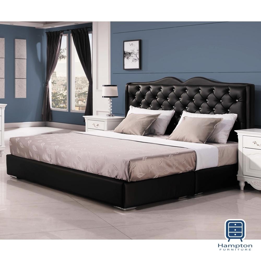 漢妮Hampton朱蒂斯6尺黑色雙人床組-184x204x119cm