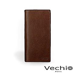 VECHIO - 經典商務男仕系列-14卡長夾 - 褐