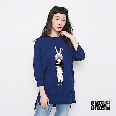 SNS 兔星球奇異女孩圖騰設計上衣(3色)