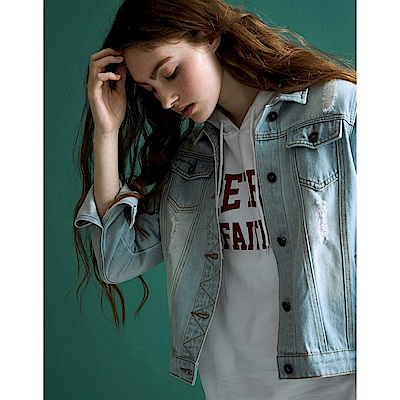 CACO-刷色牛仔外套-(兩色)-女【TAR011】