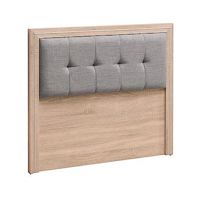 文創集 謝米德橡木紋3.5尺亞麻布單人床頭片-106x10x91cm免組