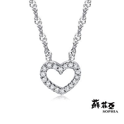 蘇菲亞SOPHIA 鑽石項鍊-滿分愛戀14K鑽鍊
