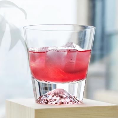 江戶硝子 日本進口富士山手工製作玻璃水杯/威士忌酒杯270ML