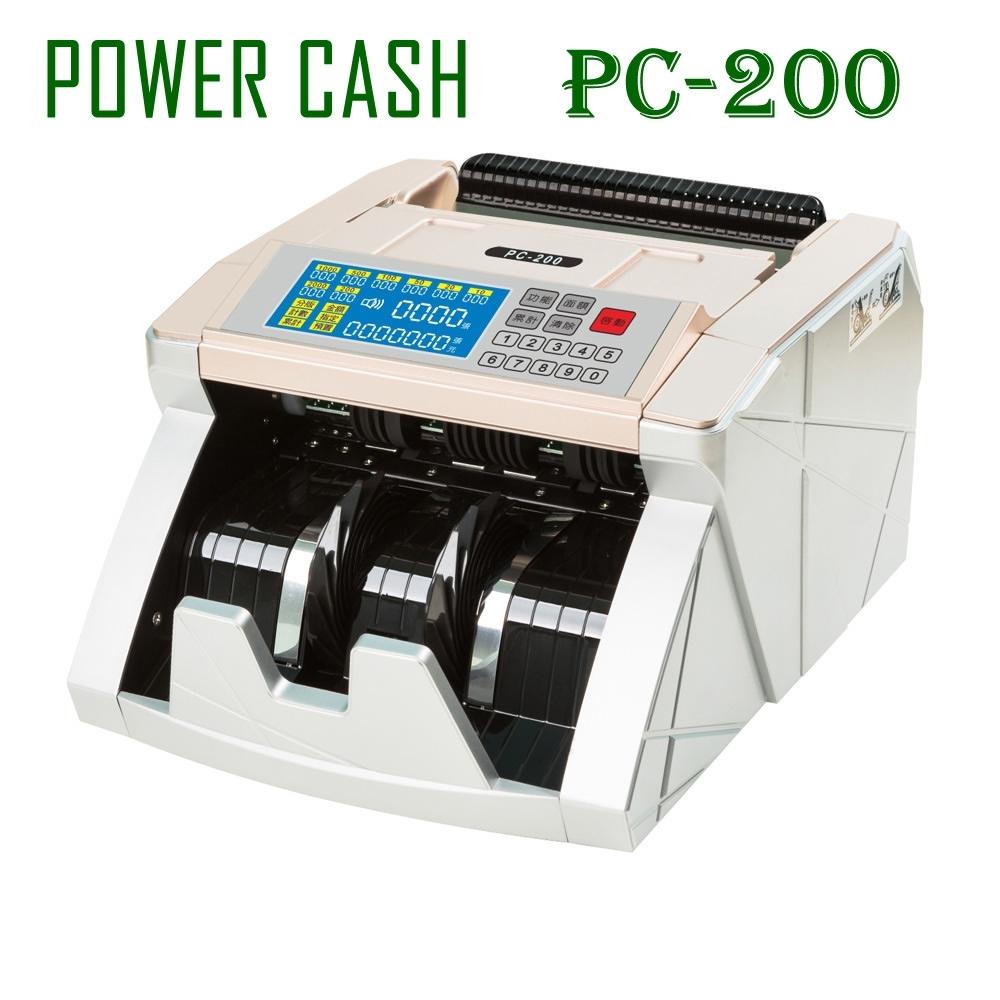 POWER CASH 頂級商務型液晶數位 台幣 /人民幣 防偽點/ 驗鈔機 PC-200