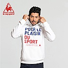 le coq sportif 法國公雞牌法文字母印花連帽T恤 男-白
