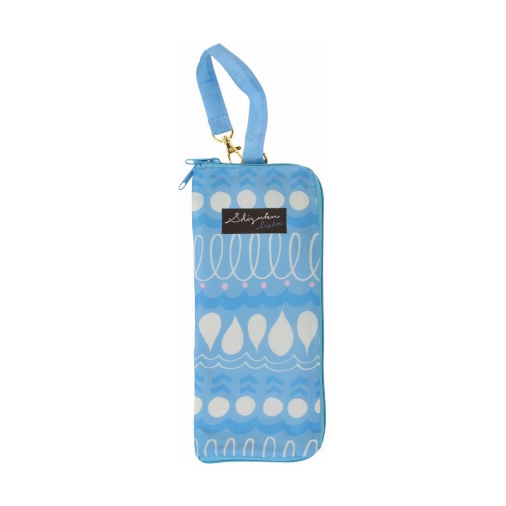 日本Prairiedog 可調式掛勾絨毛超吸水摺疊傘套-天空藍