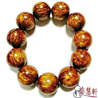 養慧軒 金黃花琥珀 圓珠手鍊 手串(14mm)