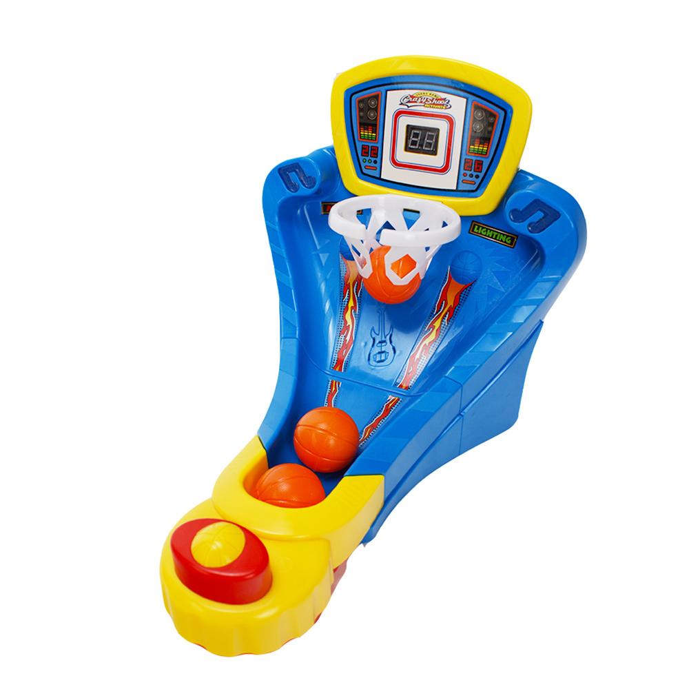 兒童運動玩具 手指彈射聲光籃球遊戲組 42788