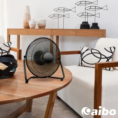 aibo USB充電 鐵製工業風 10吋可調速風扇(FAN-AB193)