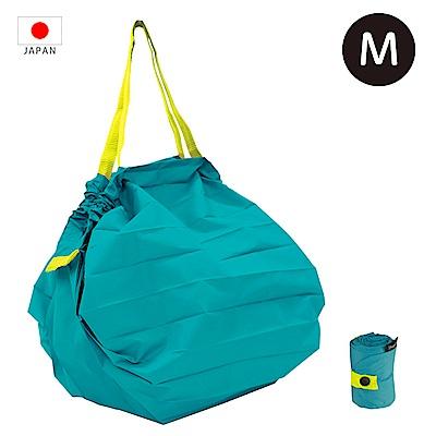 【日本Marna】Shupatto 秒收摺疊環保袋 (M) 藍