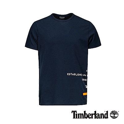 Timberland 男款深寶石藍反光印花短袖T恤|A1ZWC