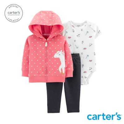 Carter's台灣總代理 粉紅點點獨角獸3件組套裝