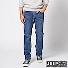 JEEP 經典品牌刺繡刷色牛仔褲