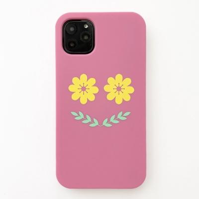 【Candies】Simple系列 Smile Flower(粉) - iPhone 11 Pro Max