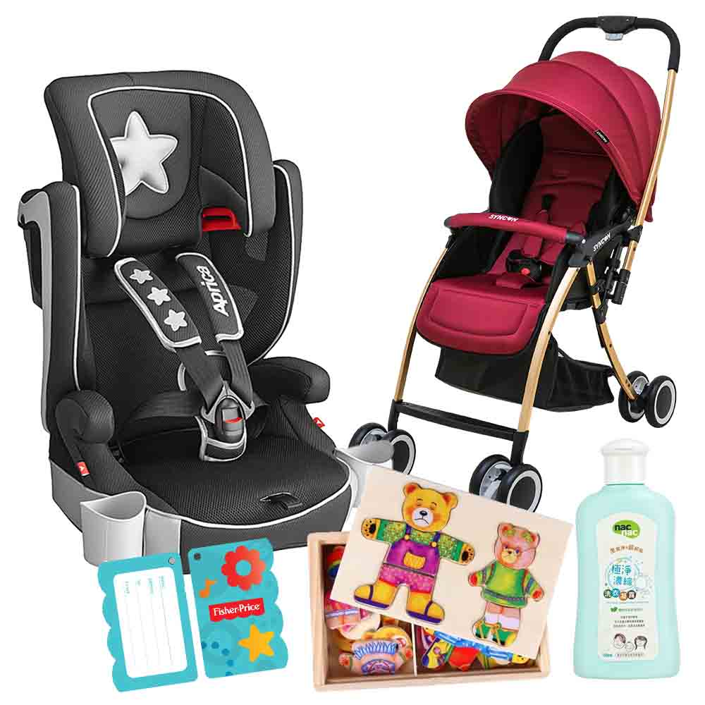 Aprica 成長輔助汽車安全座椅+SYNCON HS500雙向手推車(4色可選) @ Y!購物