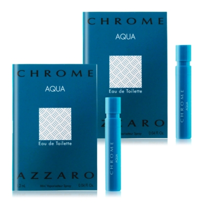 *AZZARO 碧海鉻元素男性淡香水針管1.2mlX2 EDT-隨身針管試香