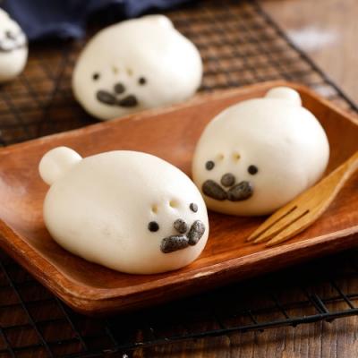 禎祥食品‧海獅甜包(綠豆)(10粒/包,共三包)