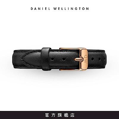 DW 錶帶 12mm金扣 爵士黑真皮皮革錶帶