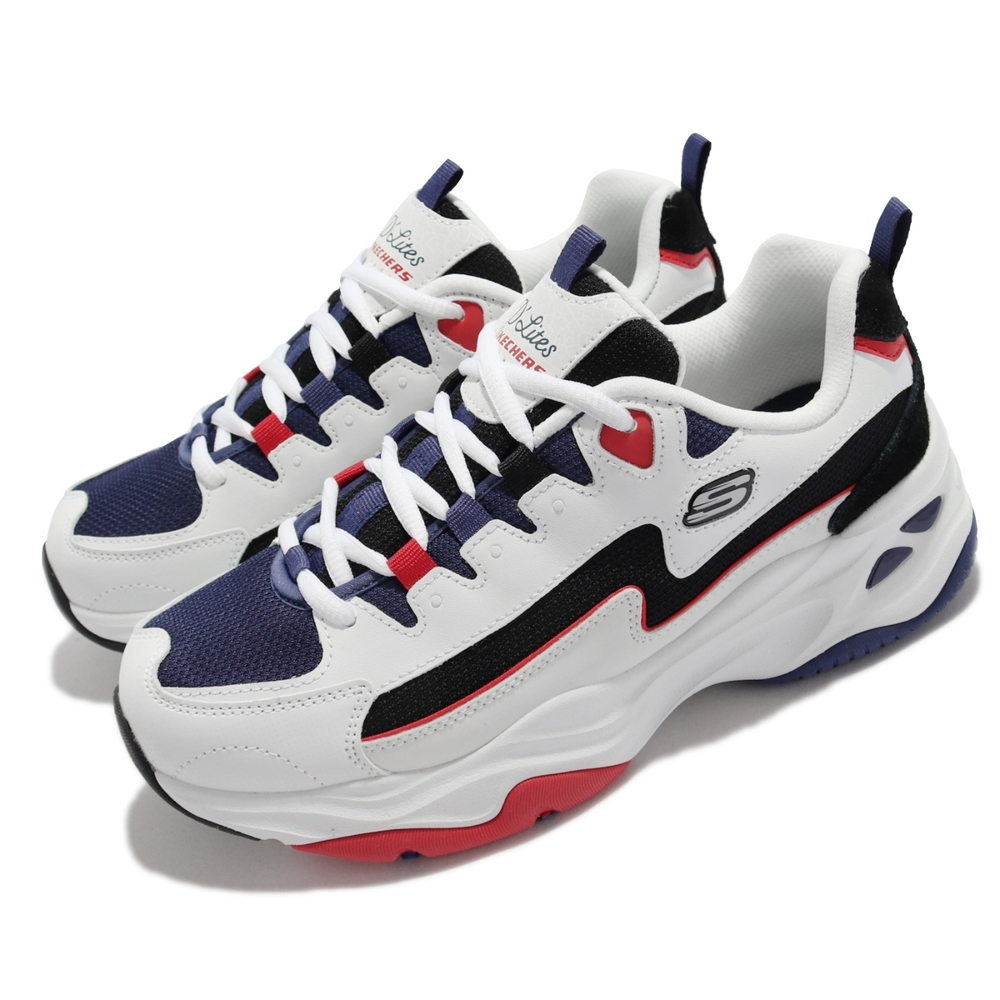 Skechers 休閒鞋 D Lites 4 厚底 老爹鞋 女鞋 固特異膠底 穩定耐磨 穿搭 修飾 白 藍 149493-WNVR
