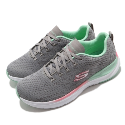Skechers 休閒鞋 Ultra Groove 運動 女鞋 輕量 緩震 透氣 支撐 記憶型泡棉鞋墊 灰 彩 149022GYMT