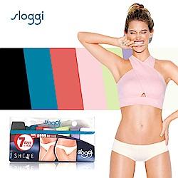 sloggi Shine低腰平口小褲7件促銷包 繽紛七色