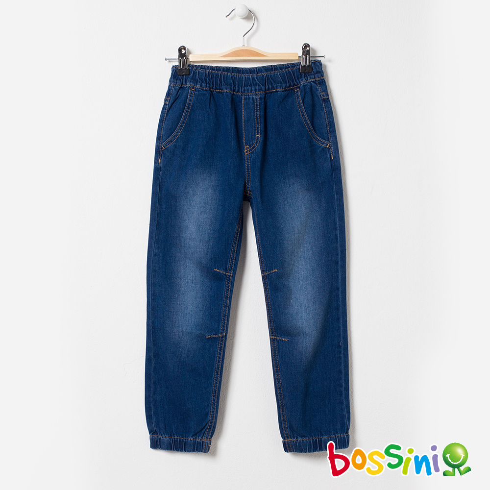 bossini男童-輕鬆束口長褲04淡藍