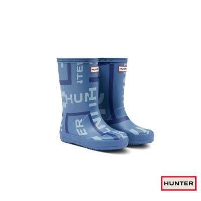 HUNTER - 童鞋 - 小童經典印花霧面短靴 - 藍