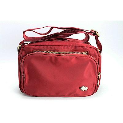 DRAKA 達卡 - 外出防潑水斜背側背包-低調奢華款-紅(44DK58250255)