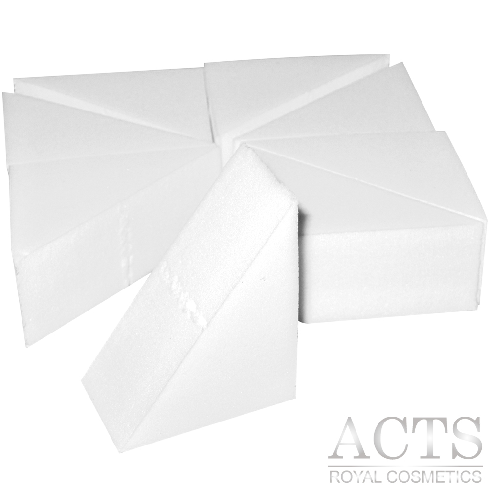 【滿千8折】ACTS 維詩彩妝 高密度Q海綿 直角三角形 8片/包