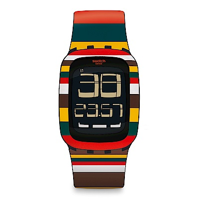 Swatch TOUCH系列 TENDONE 條紋風情手錶