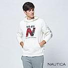 Nautica經典品牌運動風連帽TEE-白色