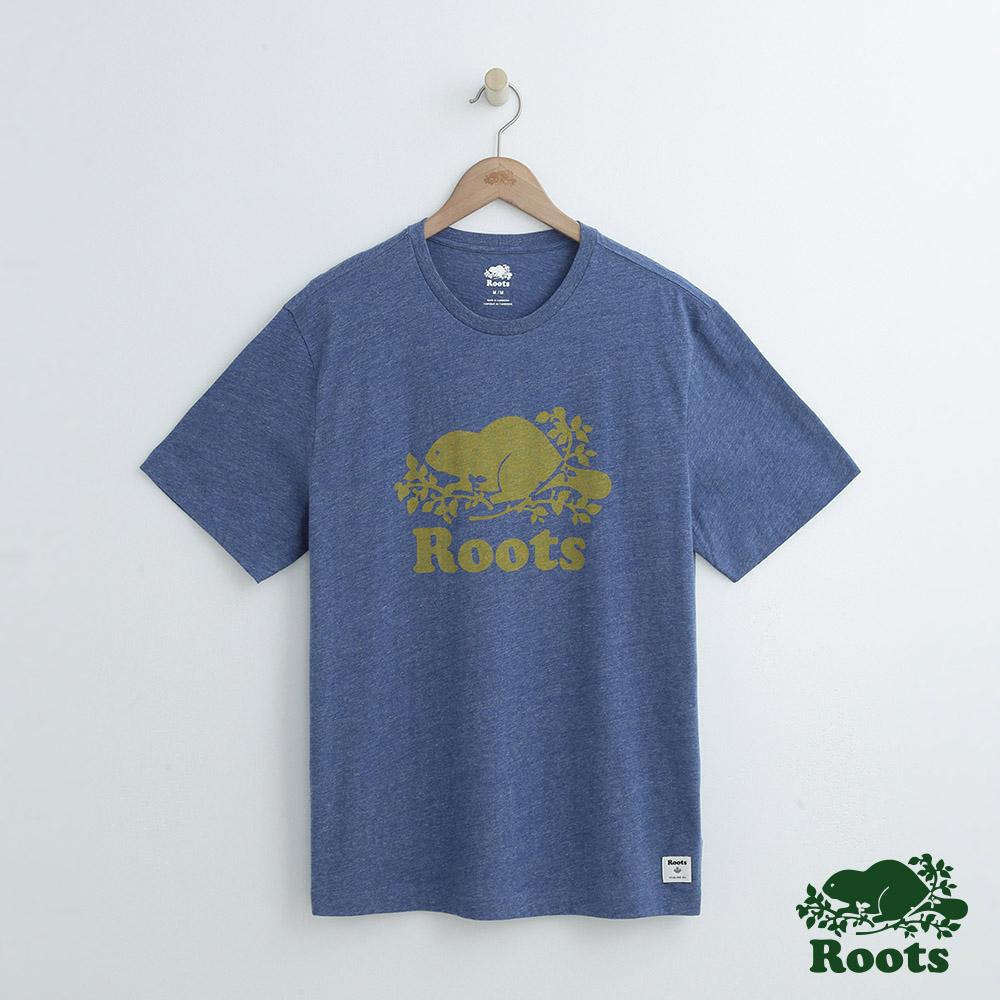 男裝Roots 庫柏短袖T恤-藍
