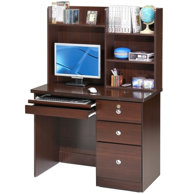 Homelike 好學生電腦書桌-胡桃木紋-103x57x148cm