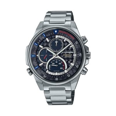 CASIO卡西歐 EDIFICE 太陽能電力 藍寶石玻璃 賽車 聯名錶款 EFS-S590AT-1A_45.3mm