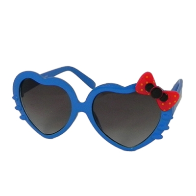 【Docomo女童專用太陽眼鏡】愛心造型鏡框設計 可愛蝴蝶結造型 小女生的最愛 抗UV400