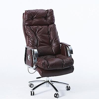 【STYLE 格調】尊爵款全牛皮雙層加厚人體工學皮革厚實主管椅 / 董事長皮椅