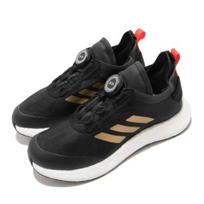 adidas 慢跑鞋 RapidaLUX BOA K 女鞋 愛迪達 路跑 緩震 BOA旋鈕 中大童 黑 白 FX2272