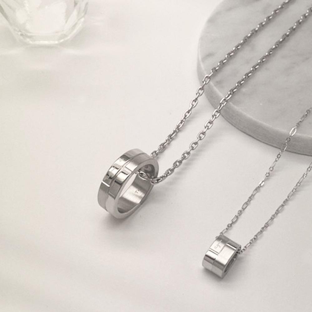 agnes b 白鋼情侶套組飾品(男女對飾) product image 1
