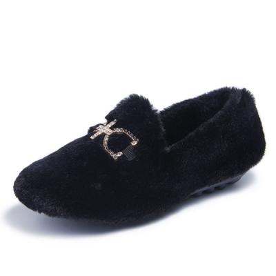 韓國KW美鞋館-優雅愜意舒適豆豆鞋-黑色