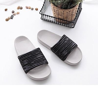 FunPlus+ 極簡質感室外拖鞋-黑