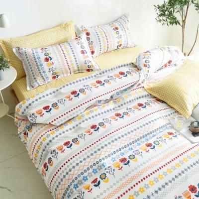 A-ONE 雪紡棉 單人床包/枕套 二件組-淡香