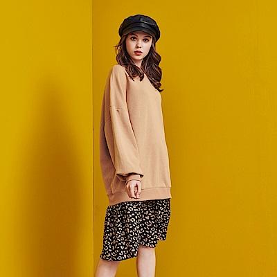 CACO-豹紋拼接洋裝-(兩色)-女【RSH207】