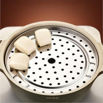 PUSH!廚房用品不鏽鋼蒸盤蒸架子隔水蒸籠蒸包子高腳蒸架中號22CM